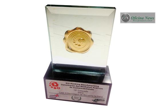 Dana é reconhecida em prêmio por reciclagem de borracha