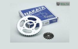 Nakata coloca kit coroa e pinhão para motocicleta na reposição