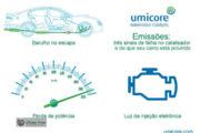 Umicore alerta para sinais de falha no catalisador do veículo