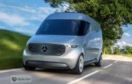 Vans elétricas da Mercedes-Benz são utilizadas para entregas urbanas