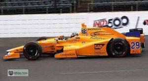 Carro de Alonso está cada vez mais coberto por marcas de patrocinadores (IMS)