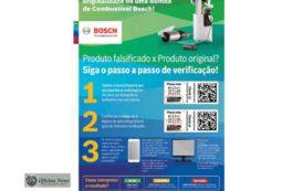 Bosch alerta como identificar bomba de combustível original