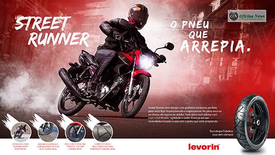 Levorin lança pneu mais esportivo para motos de uso urbano
