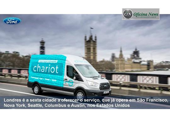 Londres recebe o serviço de vans sob demanda Chariot