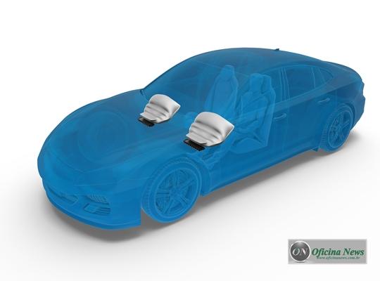 ZF desenvolve airbag de joelho com revestimento de tecido