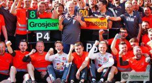 Haas chega aos 50 GPs com dois pilotos no top 10 e melhor resultado da equipe: quarto lugar de Grosjean (Haas)