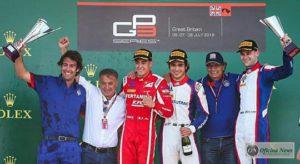 Pais e filhos no pódio da GP3: Alesi e Piquet celebram resultados de Giovani e Pedro (GP3)