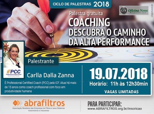 Abrafiltros promove palestra gratuita sobre tema coaching