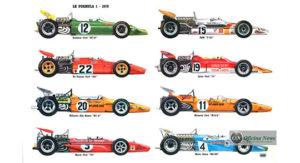 Ilustração mostra a variedade de conceitos, a maioria montada em torno do motor Cosworth (auto-retro)