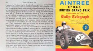 Página 254 do livro esclarece o acerto e registra a trapaça em Aintree em 1955 (arquivo pessoal)