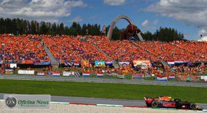 Verstappen e os laranjas: compatriotas de Van Gogh fizeram festa na casa do Red Bull (RBCP/Getty Images)