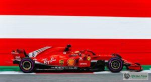 Terceiro lugar de Vettel recolocou o alemão na liderança do campeonato (Ferrari)