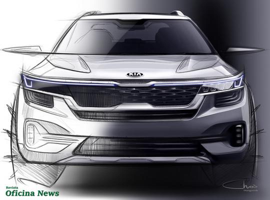 Kia revela as primeiras imagens do seu novo SUV compacto