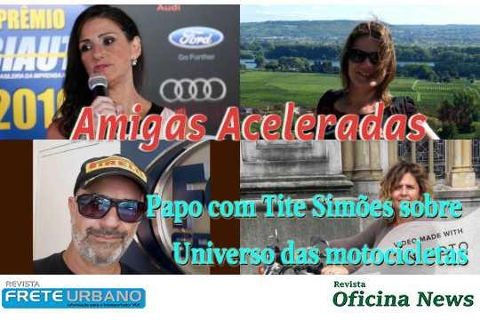 Tite Simões fala sobre motocicletas no Amigas Aceleradas