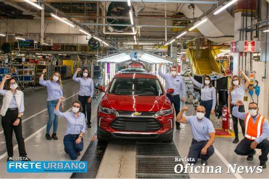 Chevrolet Tracker comemora produção de 100 mil unidades