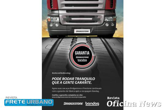 Bridgestone oferece ampliação da garantia para seus pneus comerciais